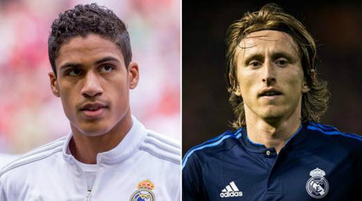 Luka Modric - Raphael Varane - Real Madrid - dafabet