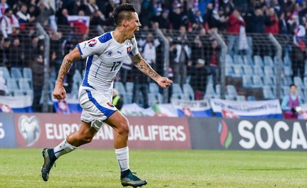 euro 2016 - keo bong da - diem so sau vong bang - slovakia - marek hamsik