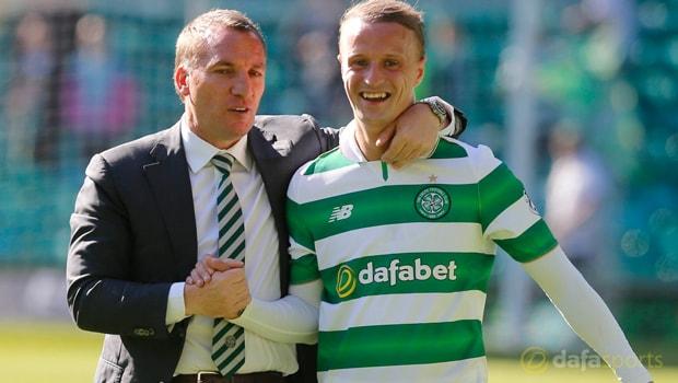 Tiền đạo Leigh Griffiths của Celtic cảm ơn HLV Brendan Rodgers
