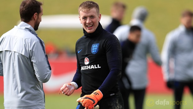 Jordan Pickford được ra sân trong đội hình ĐT Anh tại Amsterdam