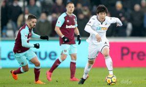 Tiền vệ Ki Sung-Yueng của Swansea tiếp tục phong độ tốt trên sân nhà