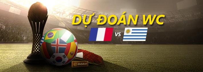 Tỉ lệ cược WC 2018: Pháp vs Uruguay