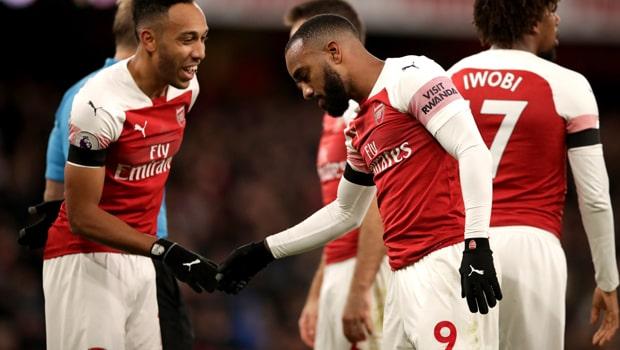 Aubameyang muốn tiếp tục đá cặp với Lacazette trên hàng công Arsenal