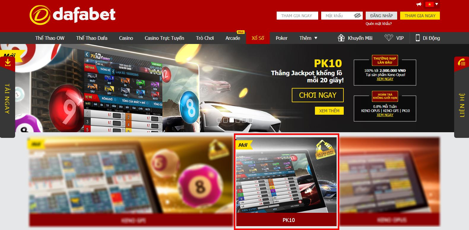 dafabet-casino-dua-o-to-ao-pk10_2