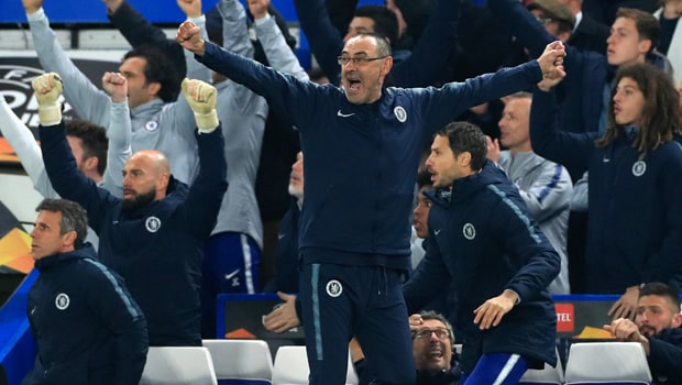 Chelsea vượt qua bán kết Europa League - Sarri