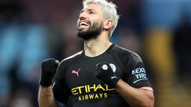Kun Aguero có cú hat-trick vào lưới Aston Villa