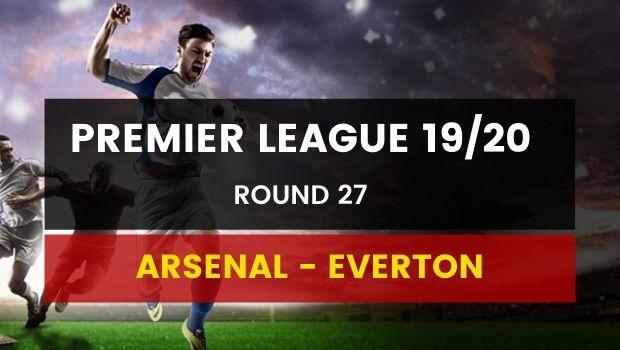 Dafabet kèo bóng đá Ngoại Hạng Anh 2019/2020 trận: Arsenal - Everton